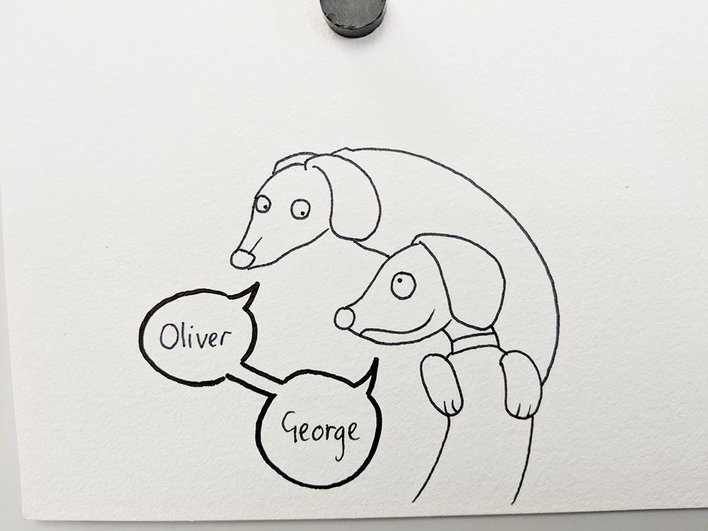 Oliver and George are Sausage Dogs