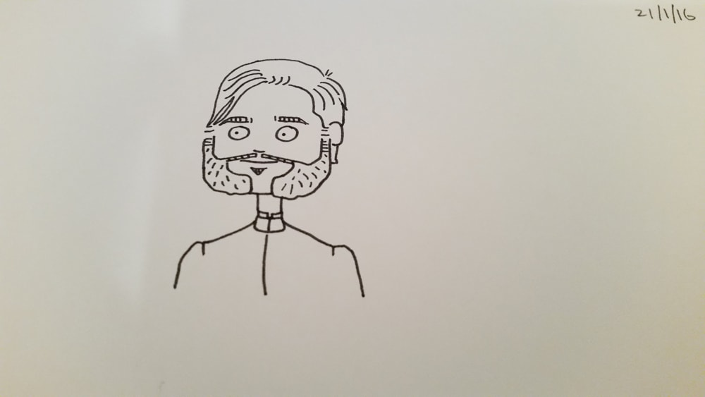 Draw me and my mutton chops (sharpie pen drawing)