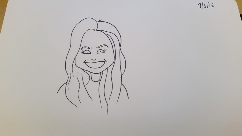 Can you capture the happiness in my girlfriend's eyes in your own artistic style?