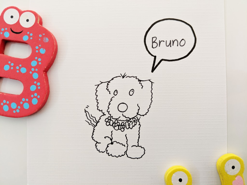 Bruno the Schnauzer x Sausage Dog - Drawing